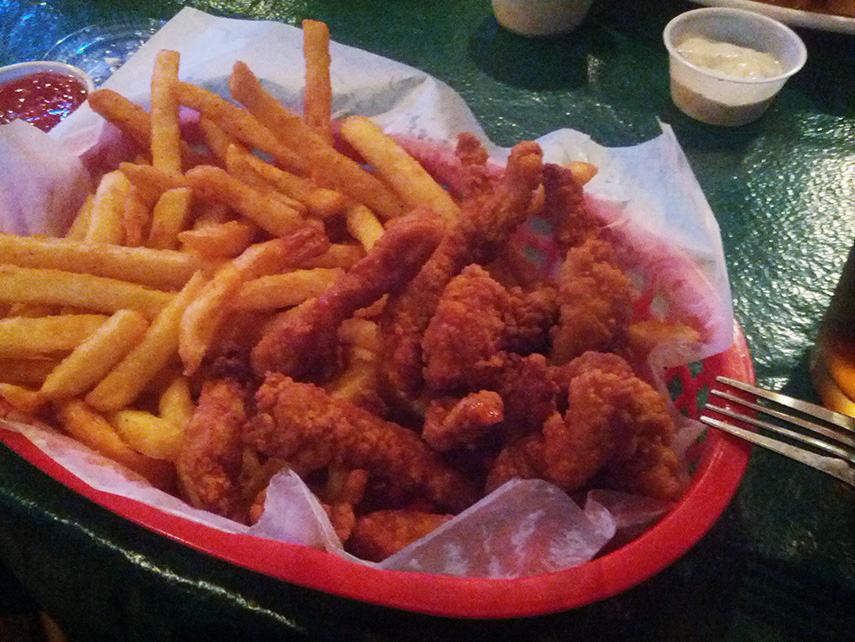 Clam Strips at Frans Landing