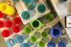 Hand Made Glass Tumblers at West End Gallery