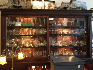 Glassware from 94 West Antiques in Corning
